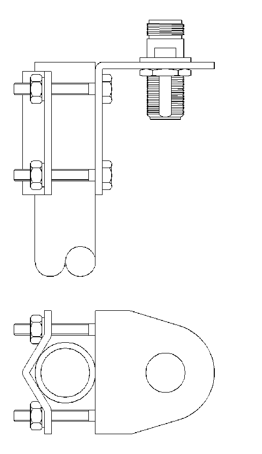 Fig 1   Antenna mount assembly
