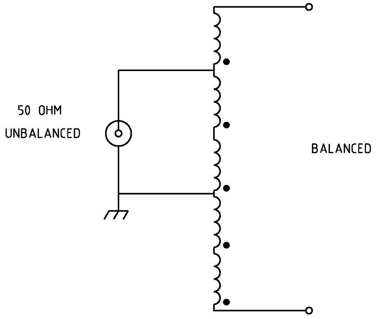 Figura 1 Esquema del balun de voltaje 1: 6
